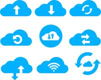 Cloud Services Clip art Icon Collection Royalty Free Stock Images