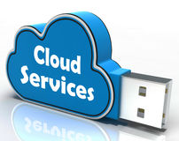 Cloud Services Cloud Pen drive Shows Online Stock Photos