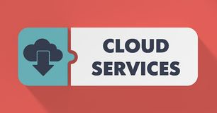 Cloud Services Concept in Flat Design. Stock Image