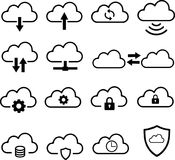 Cloud Services Icon Collection Stock Images