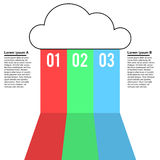 Cloud services infographic design Stock Images