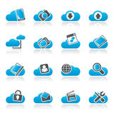 Cloud services and objects icons Stock Images