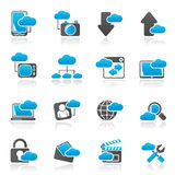 Cloud services and objects icons Stock Photo