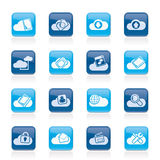 Cloud services and objects icons Royalty Free Stock Image