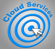 Cloud Services Represents Network Server And Advice Stock Images