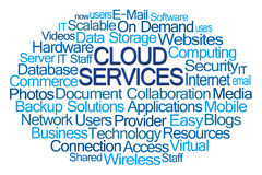 Cloud Services Word Cloud Stock Photo