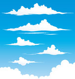 Cloud Set. White clouds in different ways Stock Image