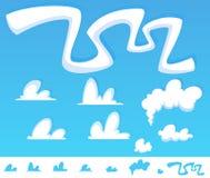 Cloud set Stock Photo