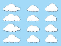 Cloud set Royalty Free Stock Images