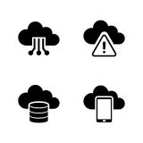 Cloud settings. Simple Related Vector Icons Royalty Free Stock Photography