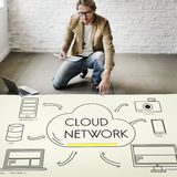Cloud Sever Transfer Sharing Network Concept Royalty Free Stock Image