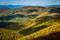 Cloud shadows on the Blue Ridge, seen from Blackrock Summit, alo Stock Images
