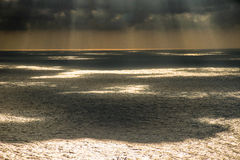 Cloud shadows on sea Royalty Free Stock Photo