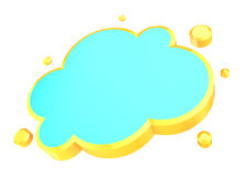 Cloud shape Stock Images