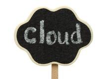 Cloud shape blackboard Stock Photos