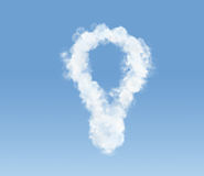 Cloud in the shape of a bulb Stock Photography