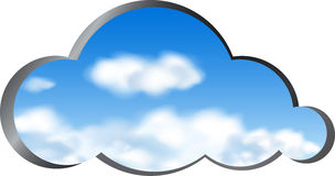 Cloud shape cut out from metal Stock Photography