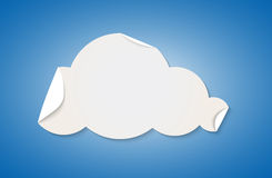 Cloud shape cut by white folded paper Royalty Free Stock Images