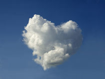 Cloud in the shape of the heart Stock Images