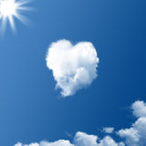 Cloud in the shape of a heart Royalty Free Stock Image