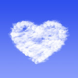 Cloud in shape of heart royalty free stock photo