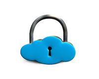 Cloud shape locker cloud shape locker Royalty Free Stock Photography