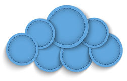 Cloud shape. Made of leather circles. Vector illustration Royalty Free Stock Photography