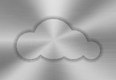 Cloud shape made of stipples. Like sprayed paint on a brushed metal background. Cloud computing concept. Vector illustration Stock Photography