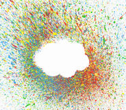 Cloud shape over background with colorful splashes Stock Image
