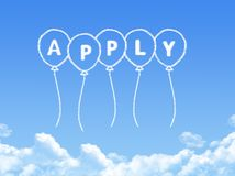 Cloud shaped as apply Message stock illustration