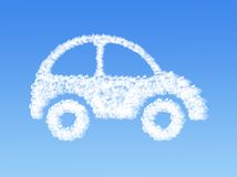 Cloud shaped as car Royalty Free Stock Photography