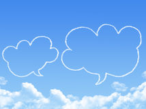 Cloud shaped as chat Stock Images