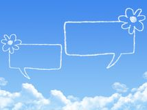 Cloud shaped as chat Stock Image