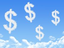 Cloud shaped as dollar Royalty Free Stock Photography