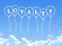 Cloud shaped as loyalty Message vector illustration