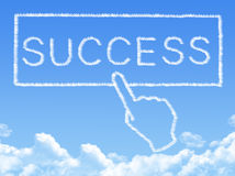 Cloud shaped as success Message Royalty Free Stock Images
