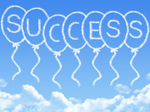 Cloud shaped as success Message Stock Images