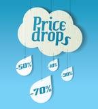 Cloud shaped banner Stock Photos