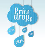 Cloud shaped banner Royalty Free Stock Images