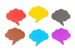 Cloud shaped ,Blank speech bubbles Stock Photography