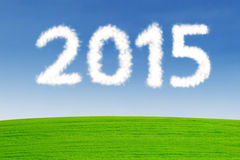 Cloud shaped number 2015 Stock Images