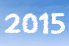 Cloud shaped number 2015 Stock Image