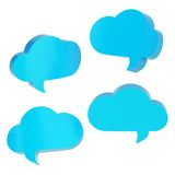 Cloud shaped text bubbles isolated Stock Photos