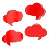 Cloud shaped text bubbles isolated Stock Image