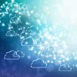 Cloud Shapes background Royalty Free Stock Images
