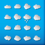 Cloud shapes collection. Cloud icons for cloud computing web and Royalty Free Stock Photography