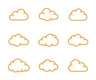 Cloud shapes collection Stock Images