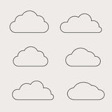 Cloud shapes collection. Stock Images