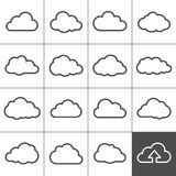 Cloud shapes collection Royalty Free Stock Photo