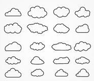Cloud shapes collection Royalty Free Stock Images